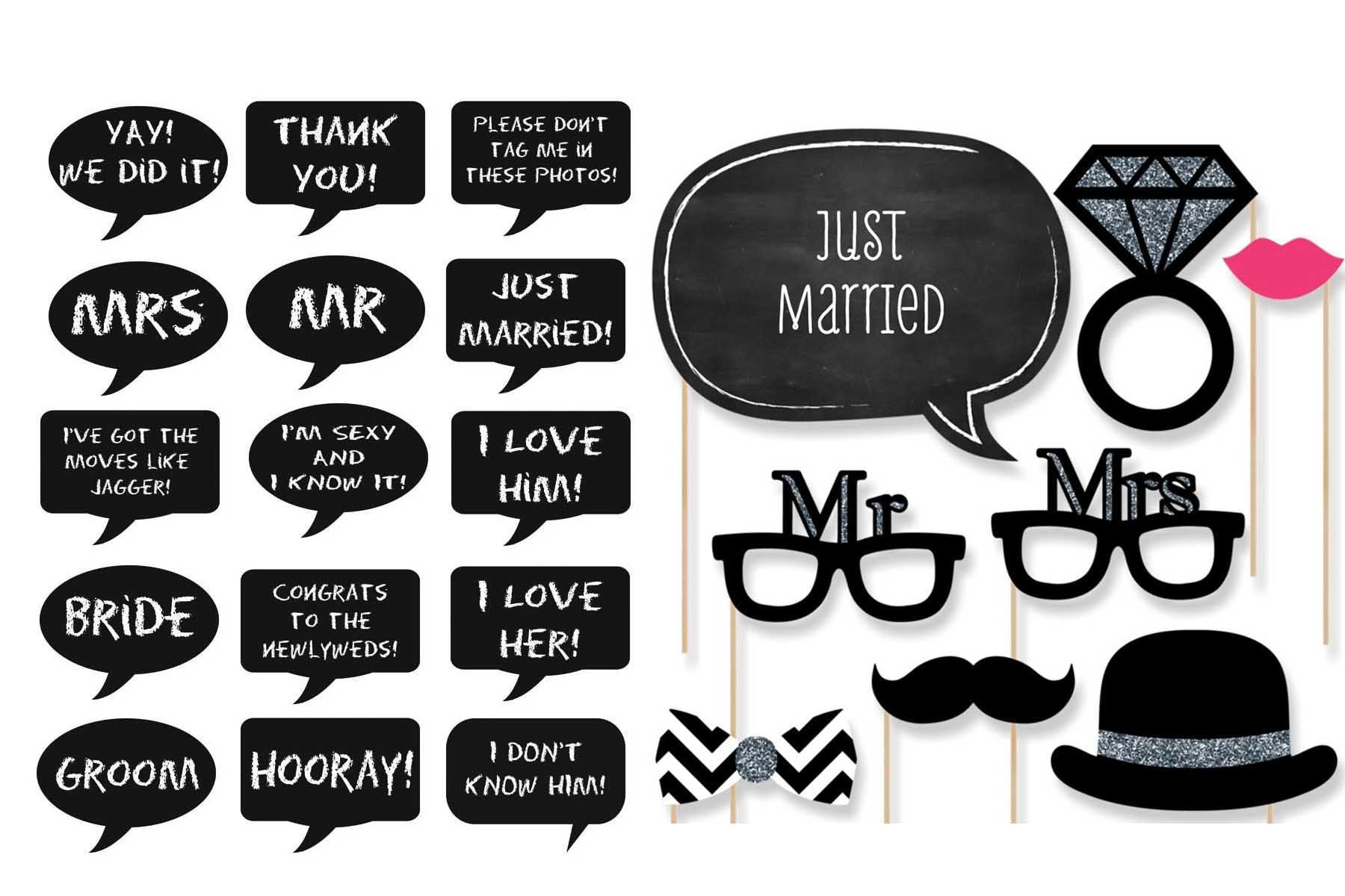 Photo Booth Prop Wedding Signs